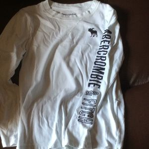 Abercrombie Kids Boys White Long Sleeve 7/8